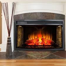 warm electric fireplace insert