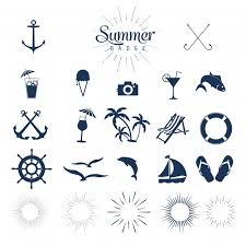 Summer Icons Summer Icons Vector Free Download