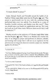 the humility in prayer by shaikh al hafiz ibn rajab al hanbali  islamsbooks wordpress com