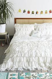 waterfall white ruffle duvet cover white queen 180