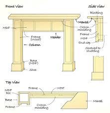 build a fireplace mantle column style surround resources building fireplace mantels mantel shelf shelves build plans