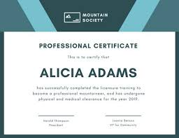 Professional Certificates Templates Blue And White Formal Geometric Shapes Professional Certificate