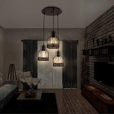rustic pendant lighting enchanting unitary brand rustic black metal cage shade dining room pendant