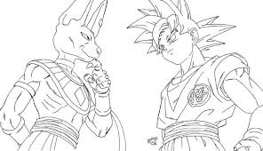 Small Picture ball z coloring pages goku super saiyan 5