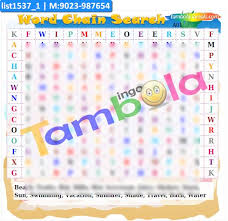 Summer Word List Summer Word Chain Search Paper Games In Summer Theme