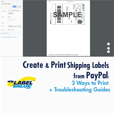 how to print a shipping label how to create print paypal shipping labels 3 ways to print labels