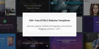 Website Templates Html5 Inspiration 28 Free HTML28 Website Templates For Instant Site Launching