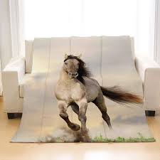 Horse Design Throw Blanket Amazon Com Beivivi Personality Design Home Soft Throw