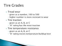 Tire Ratings Chart Traction Tire Wheel And Wheel Bearing Fundamentals Ppt Video
