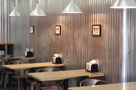 marie s sandwich haddonfield nj interior seating tables aluminum wall corrugated metal
