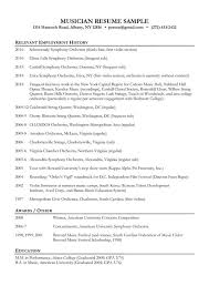 Ideas Collection Music Resume Examples Creative Music Resume Example