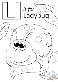 Letter L Coloring Pages Letter L Is For Ladybug Coloring Page Free
