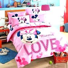 mickey bed sheets best mouse bedding set cotton linen for children home textile twin full queen