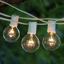 round bulb string lights light bulb string lights ft white with clear bulbs indoor round outdoor