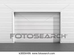 garage door at a modern building