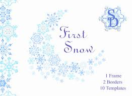 printable frame templates christmas snowflake borders new blue snowflakes frame winter clipart