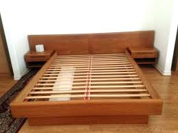 low profile wooden bed frame – immaginaria