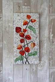 delicate fl wall decor stained
