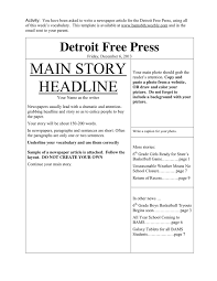 Write Your Own Newspaper Article Template Newspaper Template In Word And Pdf Formats Page 4 Of 4