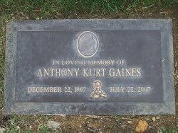 Anthony Kurt Gaines (1967-2007) - Find A Grave Memorial