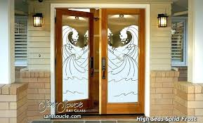 frosted glass front door inserts etched glass front doors double entry doors frosted glass oceanic waves