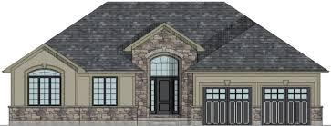 CANADIAN HOME DESIGNS   Custom House Plans  Stock House Plans    OSHAWA FRONT ELEVATION