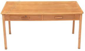 large mid 20c light oak writing table desk light oak desk d28