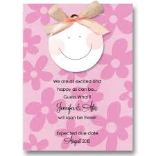 Announcement For Baby Girl Smiley Baby Girl Ribbon Pregnancy Announcements Baby Cachet