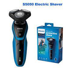 100% orijinal Philips profesyonel AquaTouch S5050 elektrikli tıraş makinesi  ile döner 3 kafa cilt koruma sistemi erkekler jileti|Electric Shavers