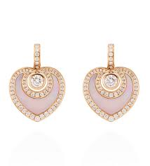 sophie rose gold mother of pearl and diamond earrings