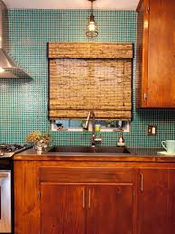 Teal Kitchen Glass Tile Backsplash Ideas Pictures Tips From Hgtv Hgtv