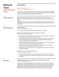 resume contact about locked page richard vinci 3d resume