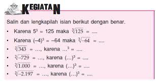 Hasil dari akar pangkat 3 dari 64 adalah 4 dan akar pangkat 5 dari 32 adalah 2. Akar Kuadrat Dan Akar Pangkat Tiga