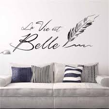 Us 1199 Letters La Vie Est Belle Wall Stickers Creative French Sentence Beautiful Life Wall Sticker For Living Room Home Decor In Wall Stickers