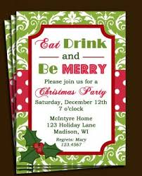 Christmas Holiday Invitations Christmas Lunch Invitation Template Free Christmas Party