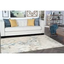 ikat ivory blue area rug by safavieh rugs cream x free
