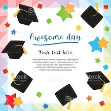 Free Graduation Background Designs Colorful Graduation Day Card Illustration Design With Flying
