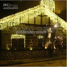 Outdoor 110 LED Icicle Lights Christmas Holiday Fairy Lighting ...