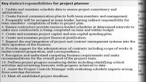 Scheduler Job Description Best Solutions Of Project Planner Job Description Project 13