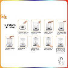 Máy tiệt trùng sấy khô điện tử 9 bình sữa Fatzbaby / FB4909SL - Máy tiệt  trùng bình sữa