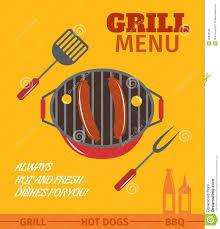 Bbq Poster Bbq Grill Poster Stock Vector Illustration Of Chicken 40838345