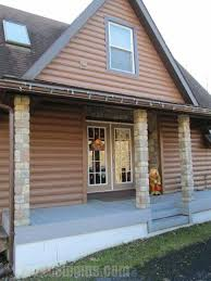 Front Porch Renovations Are Easy With Fake Stone Columns.