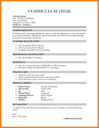 9 Curriculum Vitae Form Mla Cover Page