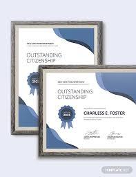 12 Good Citizenship Award Certificates Psd Word Ai