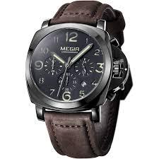 aliexpress com buy 2017 megir quartz watch men clock man top aliexpress com buy 2017 megir quartz watch men clock man top brand luxury watches relojes hombre 2016 horloge orologio uomo montre homme wristwatch from