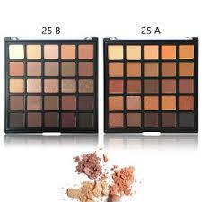 whole morphe 25 color eyeshadow palette neutral matte eye shadow