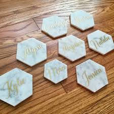 diy personalized marble coasters