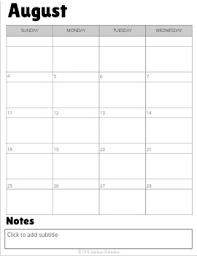 Sanity Saver 12 Month Calendar