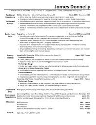 Epictra Curricular Activities Resume Sample Intracurricular