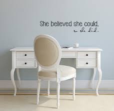 Us 298 25 Offencourage Girls Vinyl Stickers She Believed She Could So She Did Women Bedroom Wallpaper Removable Adhesives Wall Decals S 300 In